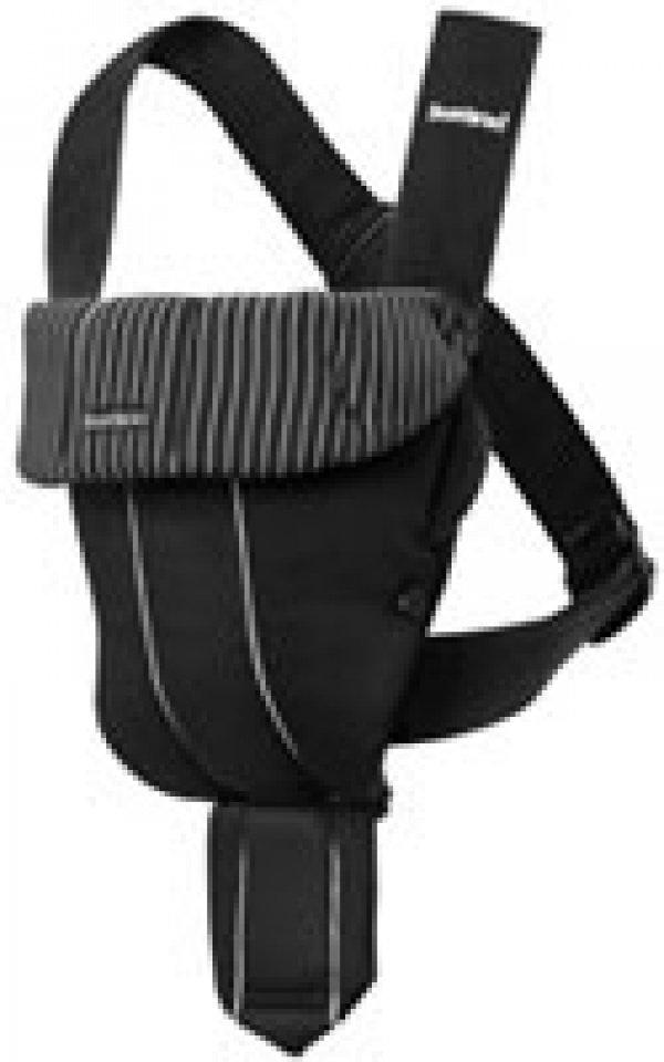 BABYBJORN рюкзак для переноски ребенка Original черный в тонкую полоску cotton