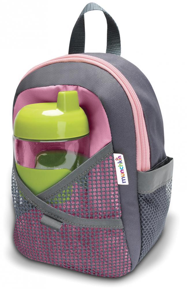 Munchkin рюкзак со страховочным поводком розовый 12048