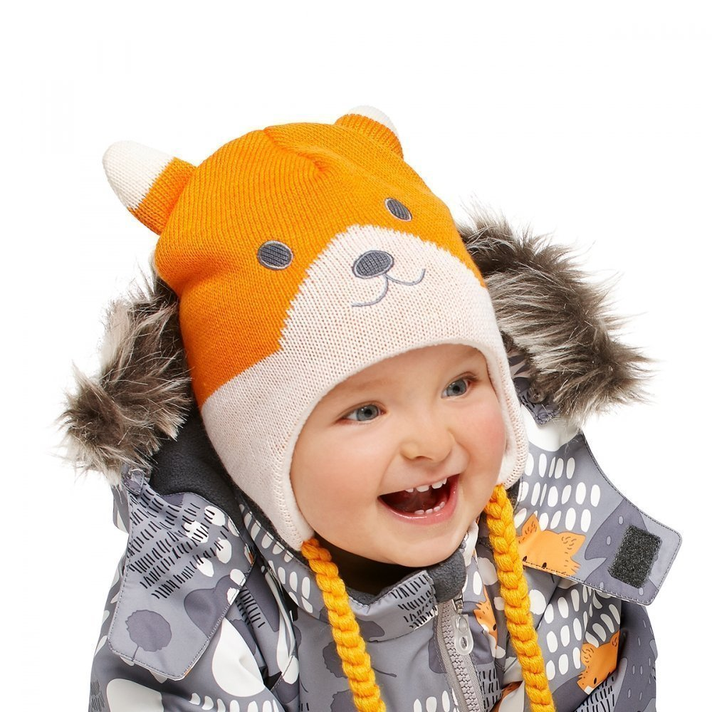 LASSIE шапка оранжевая р.XXS (42-44см)