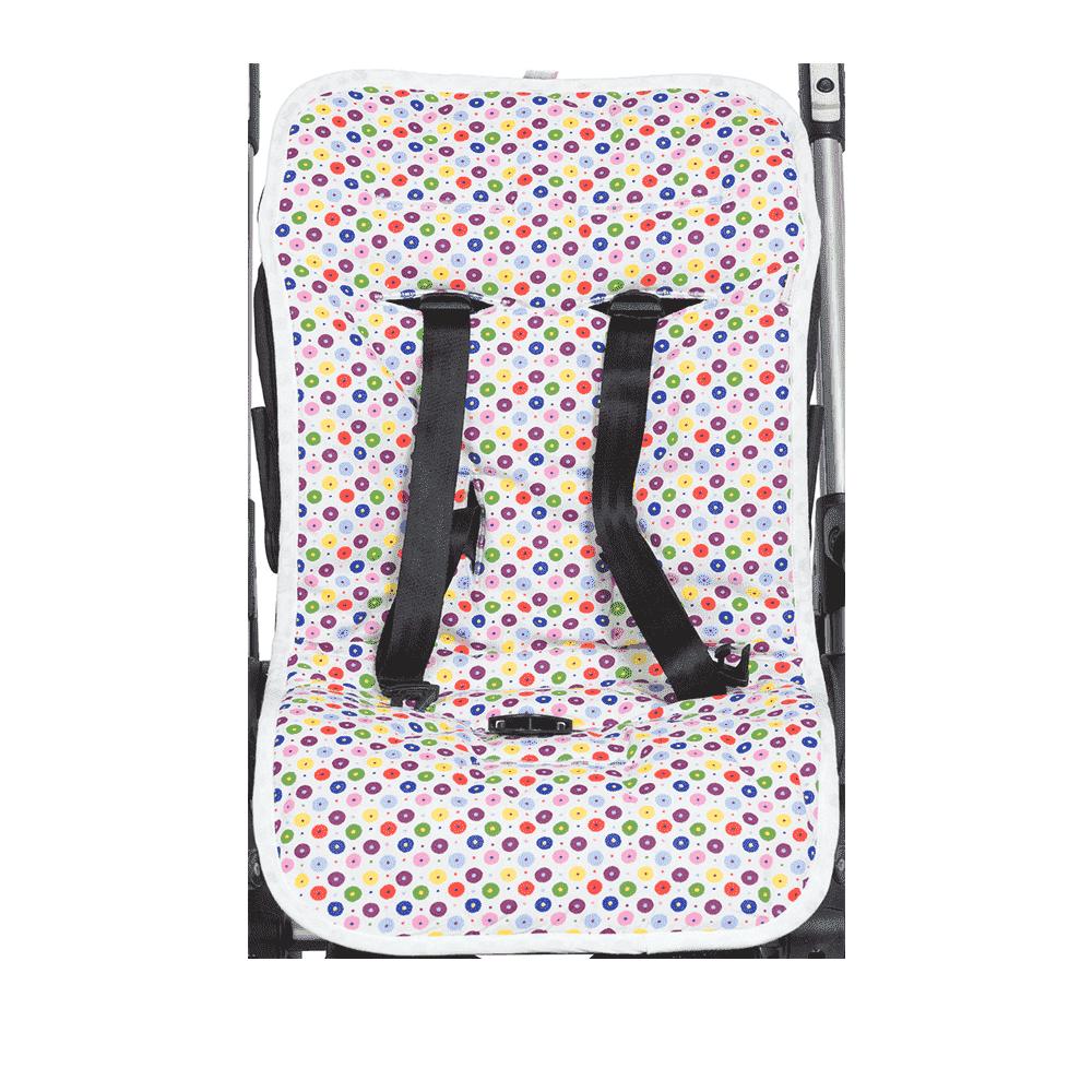 MAMMIE  Хлопковый матрасик в коляску и автокресло -конфетти