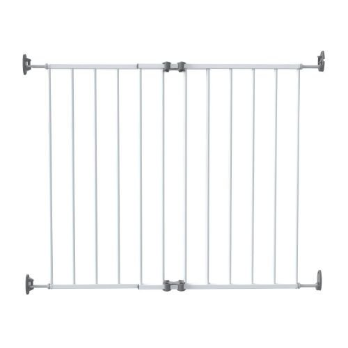 SAFE&CARE ворота мелалл 64-99,5 см белые 110-01