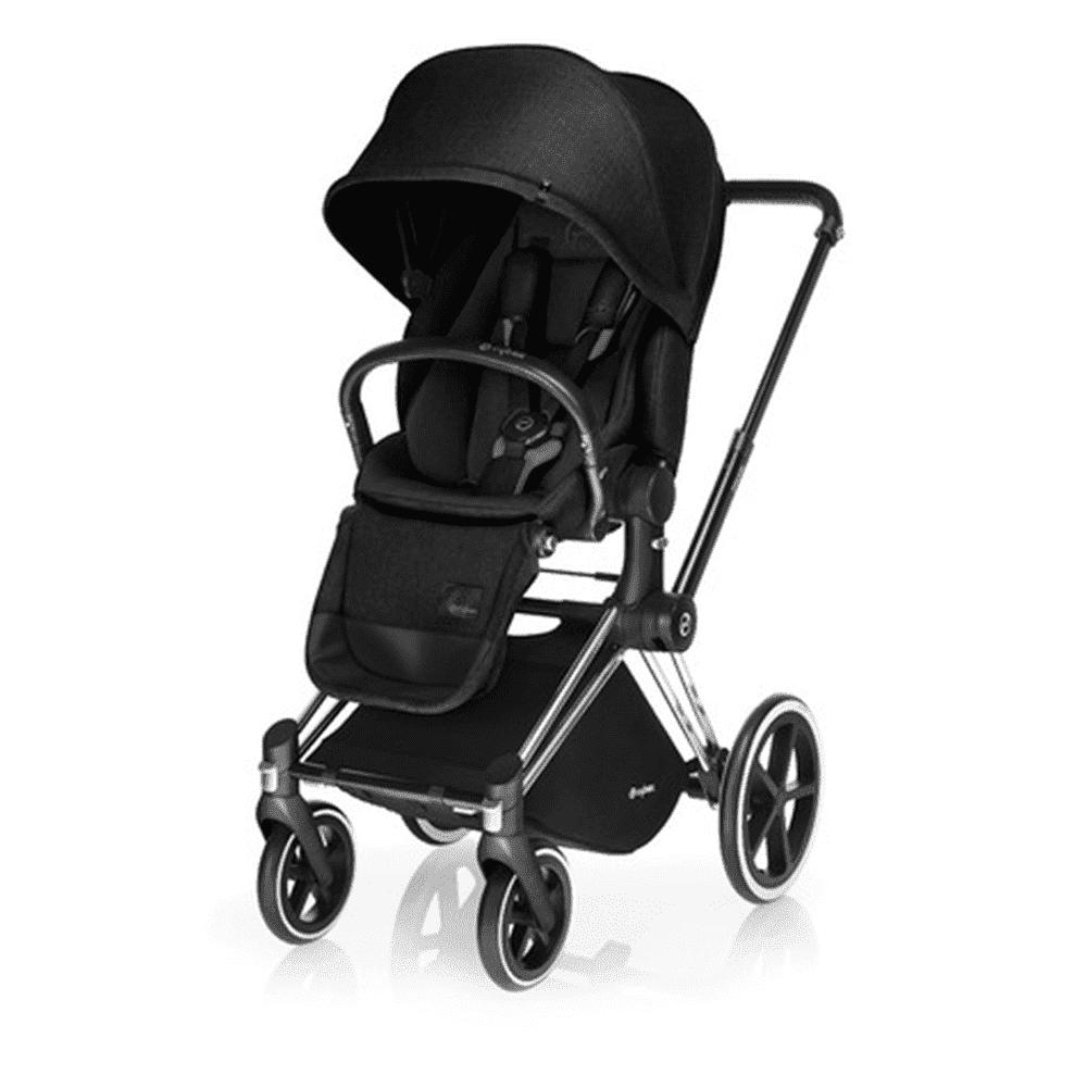 Купить Прогулочные коляски, CYBEX коляска прогулочная PRIAM, шасси Chrome с колесами All Terrain, Stardust Black