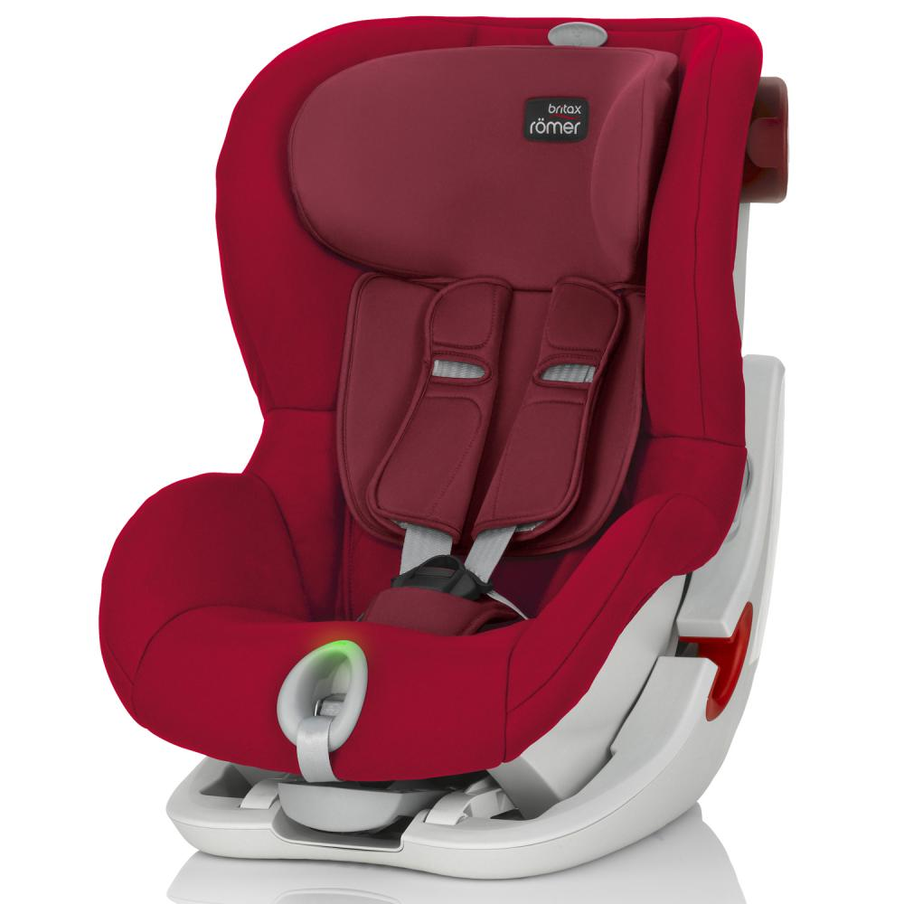 BRITAX ROEMER автокресло KING II LS Flame Red  (группа 1, от 9 до 18 кг)