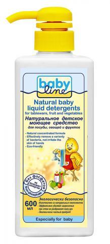 Baby Line Натуральное детское моющее средство для посуды, 600 мл (BABY LINE)