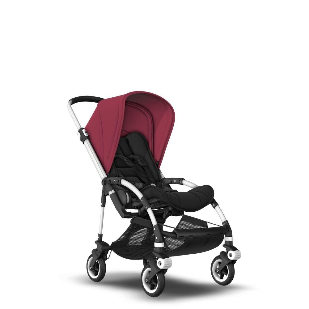 Bugaboo Коляска прогулочная Bee5 Alu/Black/Ruby Red