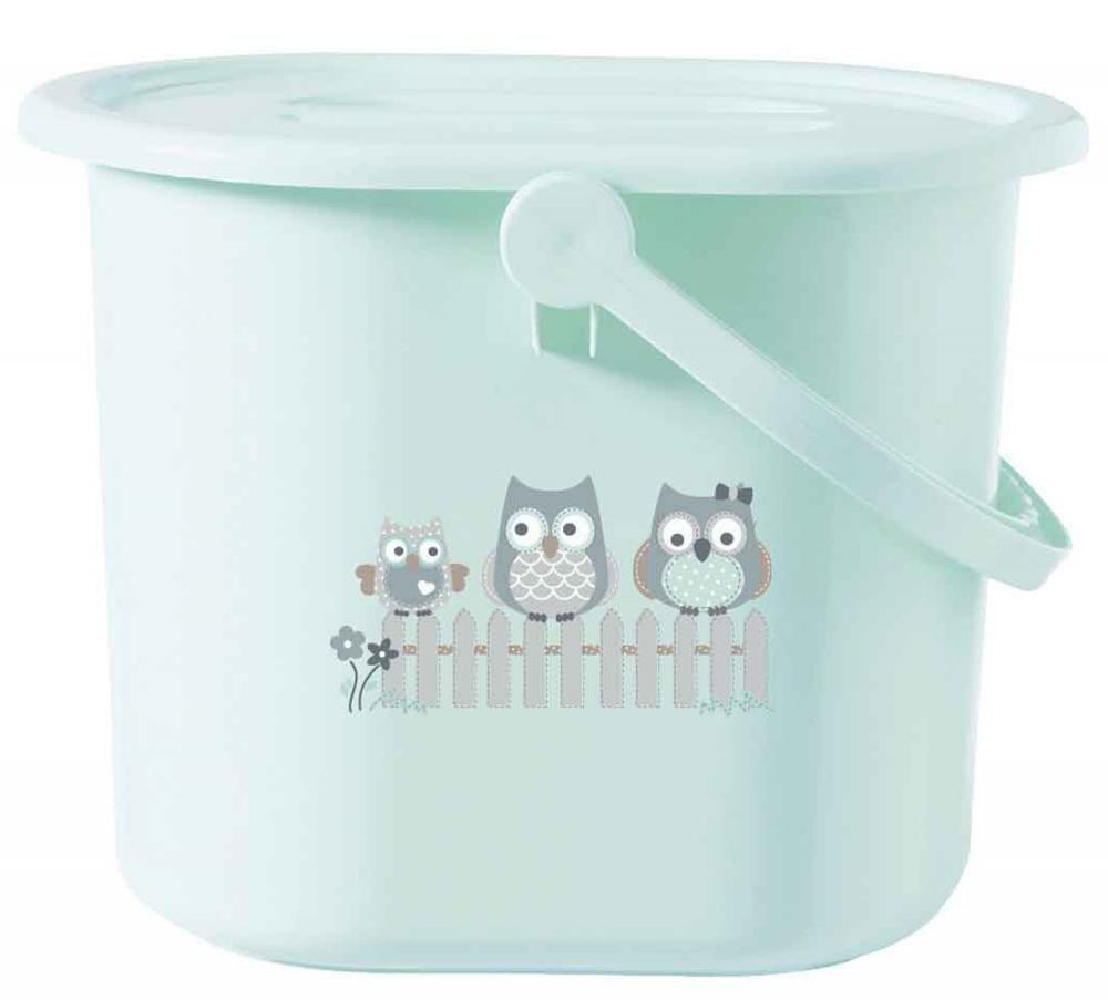 BEBE JOU ведро для наполнения, слива ванночки и использованных подгузников ментол Совушки