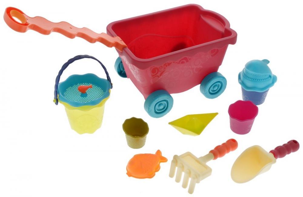 Игрушки для песочницы BATTAT набор для песочницы battat ready beach bag с машинкой 11 предметов