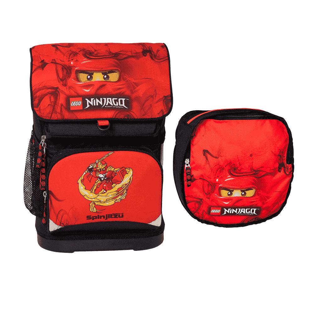 LEGO рюкзак с сумкой для обуви Ninjago Red 16022