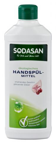 SODASAN Концентрированное жидкое средство для мытья посуды из граната, 500 мл