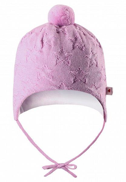 Купить Шапки, варежки, перчатки, REIMA BABY Шапка шерстяная Lintu розовая р.44/46
