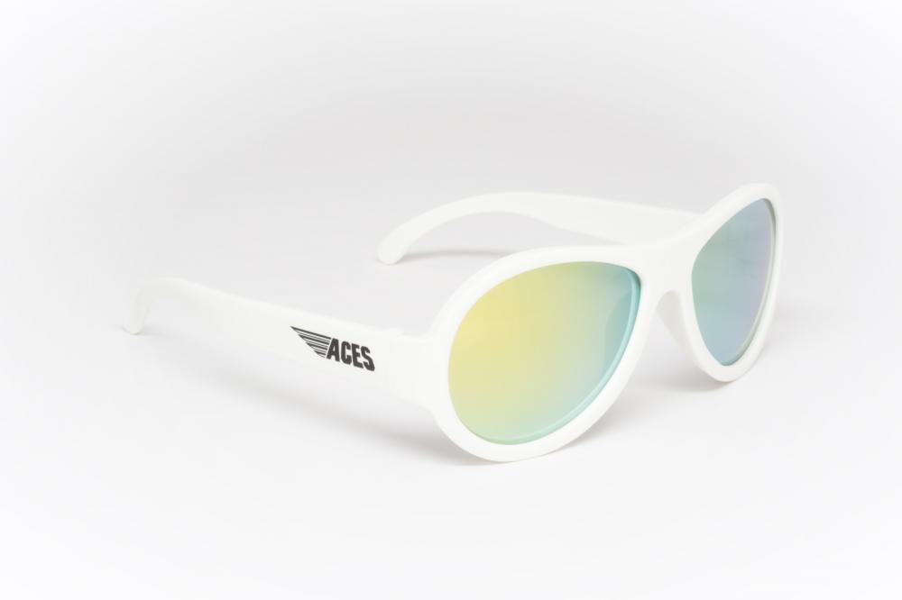 Купить Солнцезащитные шторки, накидки, очки, BABIATORS очки солнцезащитные Aces Aviator (6+) Шаловливый белый (Wicked White), оранжевые линзы