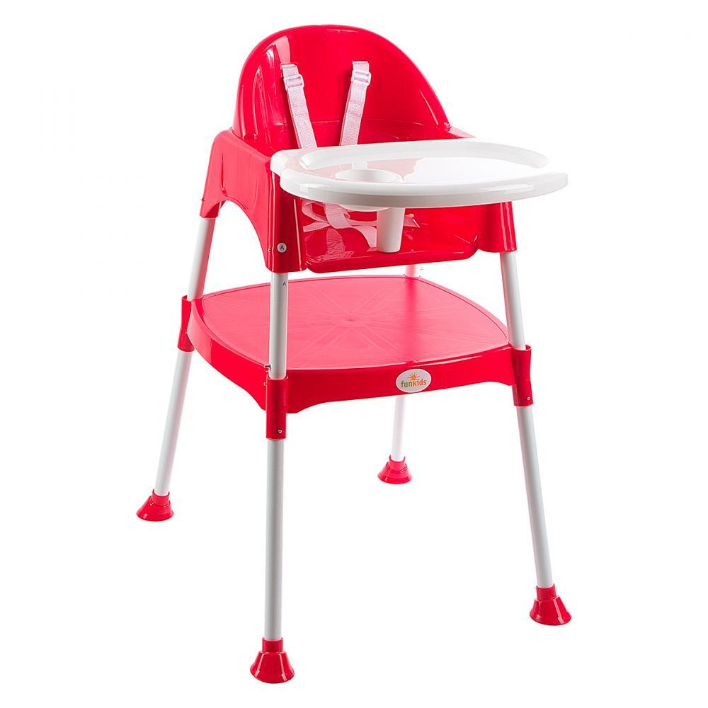 Купить Стульчики для кормления, FunKids стульчик для кормления, FUNKIDS Стульчик для кормления 2 в 1 Eat and Play цв. Красный
