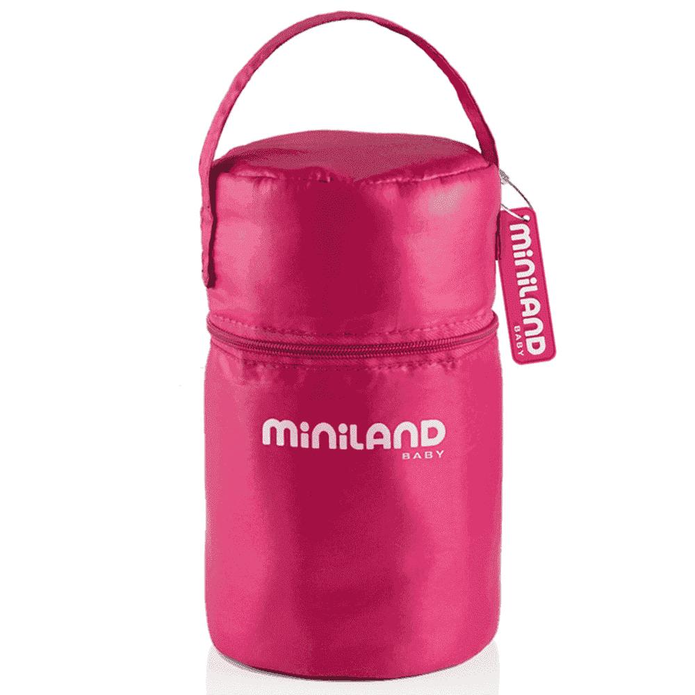 MINILAND термосумка с 2 мерными стаканчиками, розовая