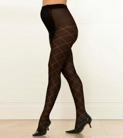 Emma Jane колготки для беременных Compressio средняя степень,ромбик, цвет черный 70 den