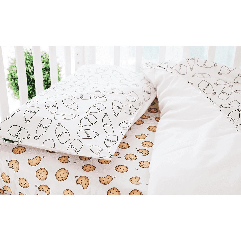 GREEN SARDINE Комплект постельного белья Milk&Cookies с овальной простынкой