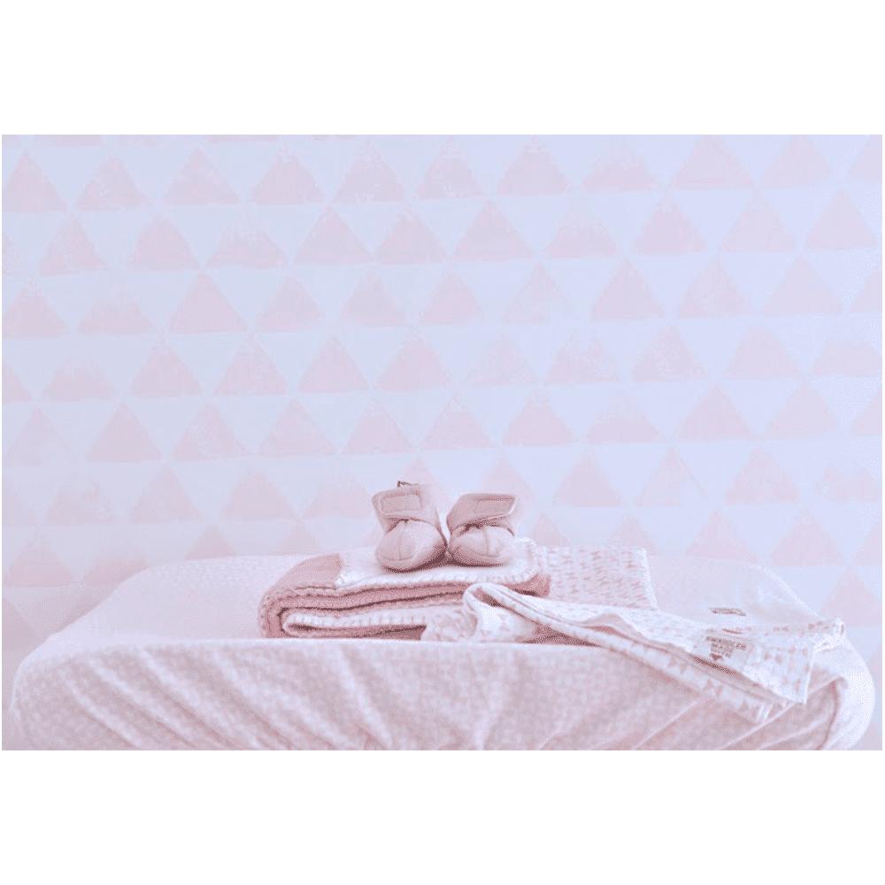 LODGER чехол на матрасик для пеленания Scandinavian Flannel Blush