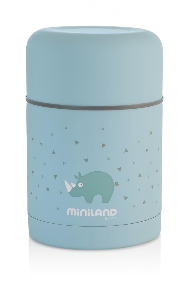 Miniland детский термос для еды silky thermos 600 мл, голубой