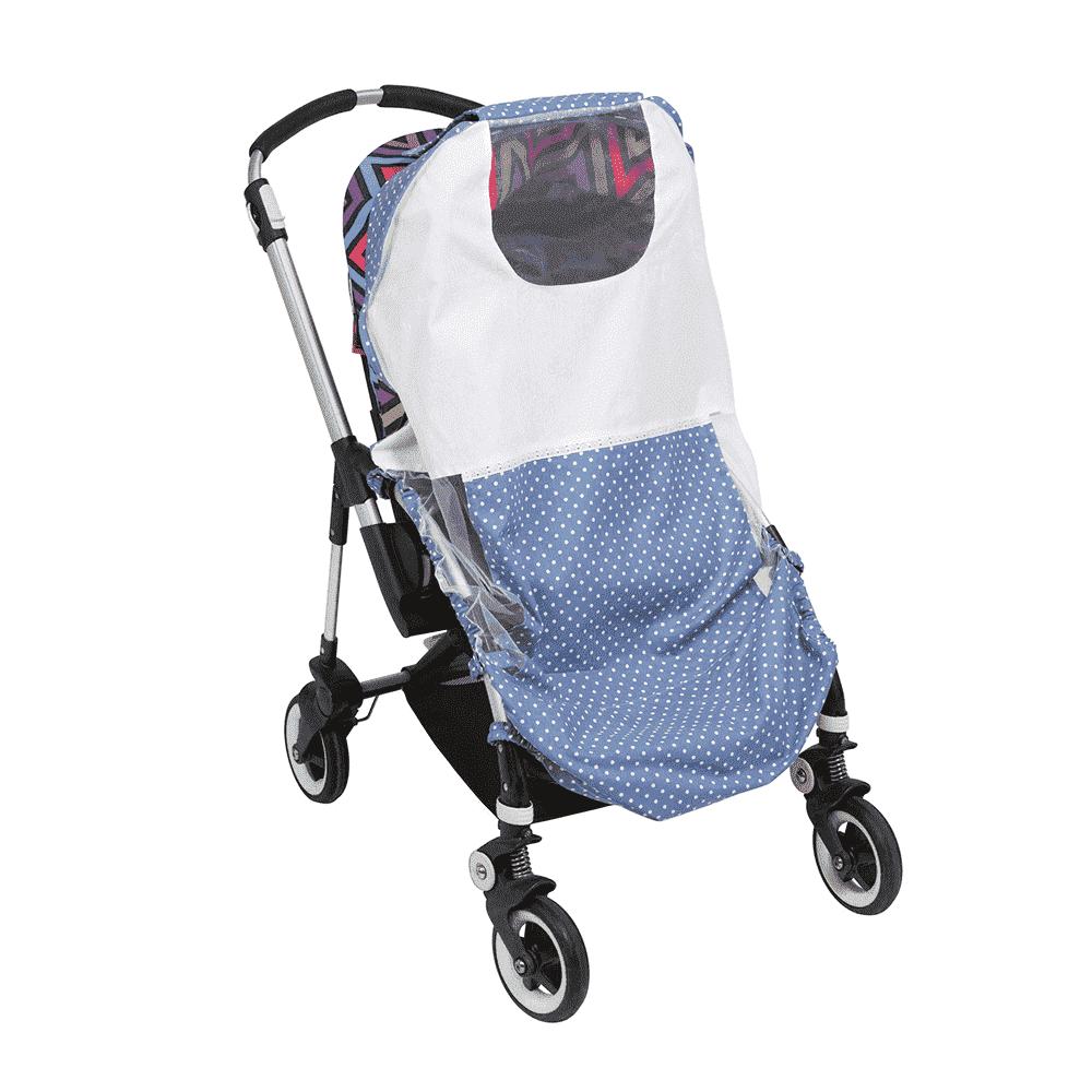 MAMMIE Cолнцезащитный тент для коляски - небесный горошек