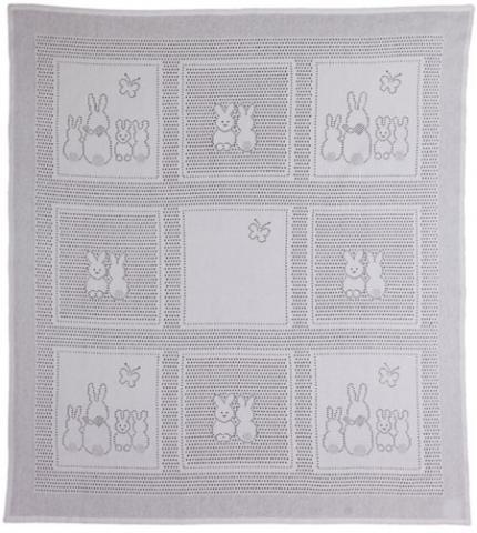MYB плед Bunny Squares 76х102см белый (подарочная уп.)
