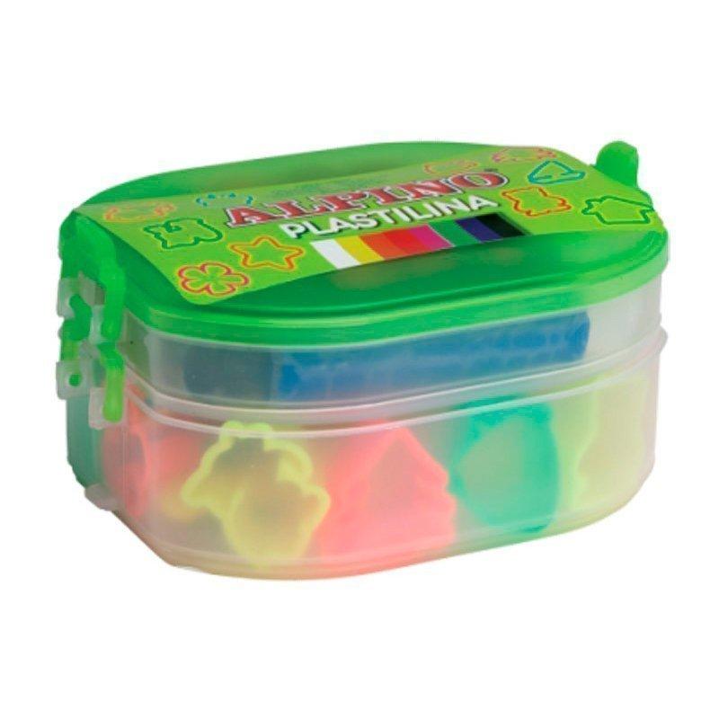 ALPINO набор пластилина с формами для лепки, 7 цветов