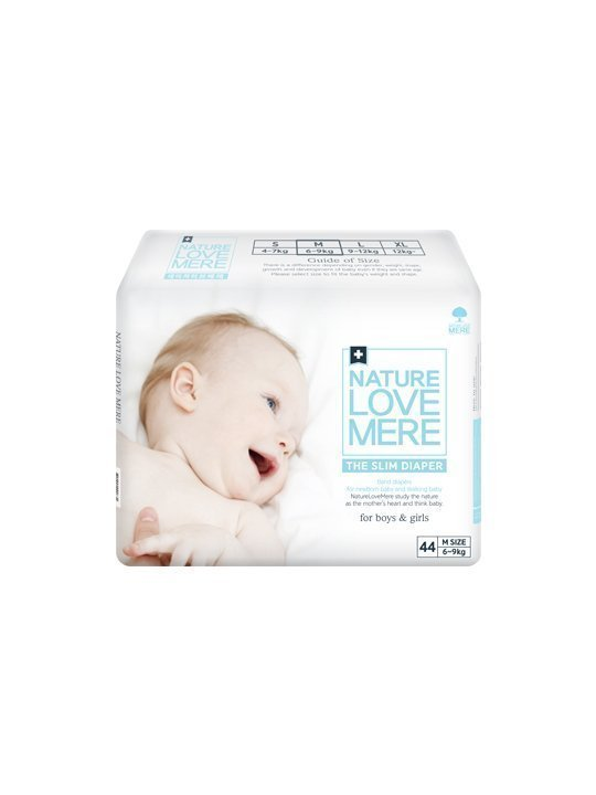 Nature Love Mere SLIM PREMIUM DIAPER подгузники M 6-9 кг, 44 шт.