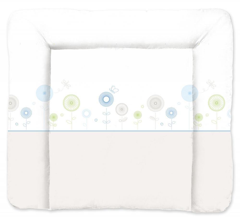 TRAUMELAND матрасик для пеленания Flowers Blau 75х85 см.