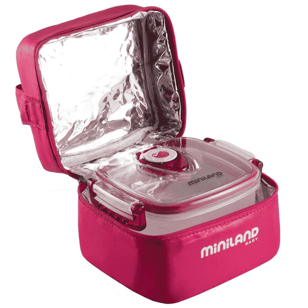 MINILAND термосумка с 2 вакуумными контейнерами, розовая