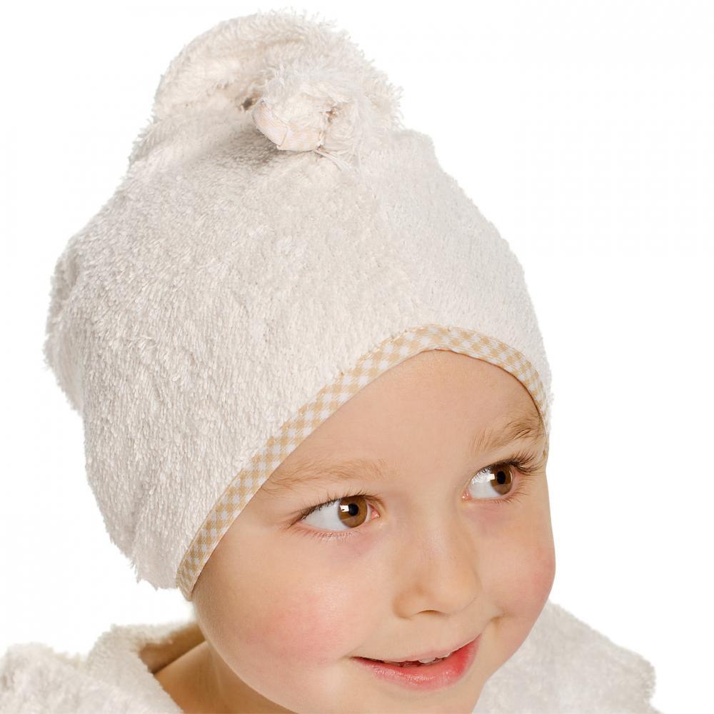 CUDDLEDRY полотенце  для волос с отделкой клеточка