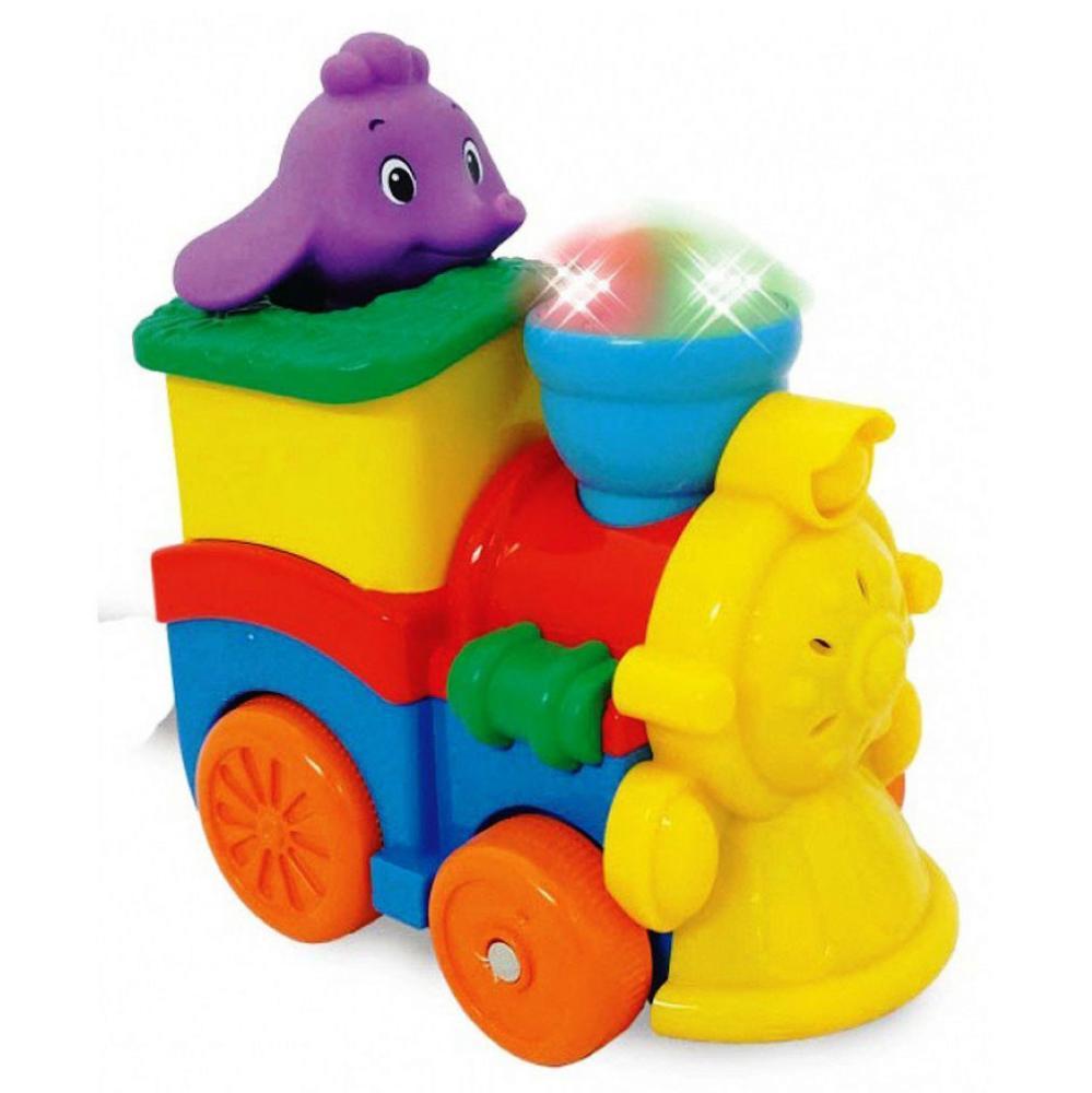 """KIDDIELAND развивающая игрушка  """"Паровозик со слоненком"""""""