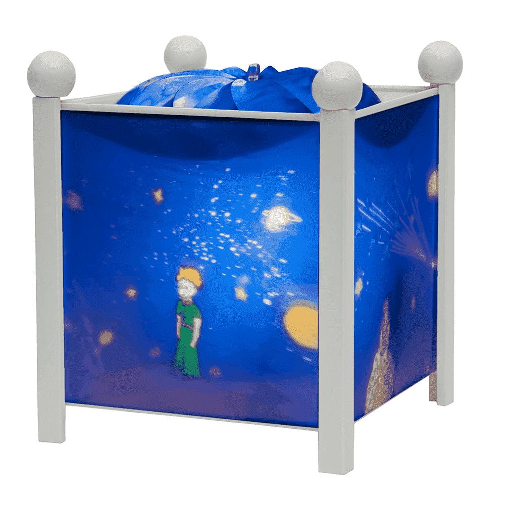 """TROUSSELIER светильник-ночник в форме куба, серия """"Little Prince©"""" - Маленький принц, белый деревянн 4330W 12V"""