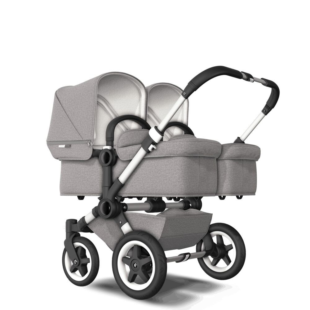 Bugaboo Donkey2 Коляска 2 в 1 для двойни TWIN Mineral LIGHT GREY/ ALU
