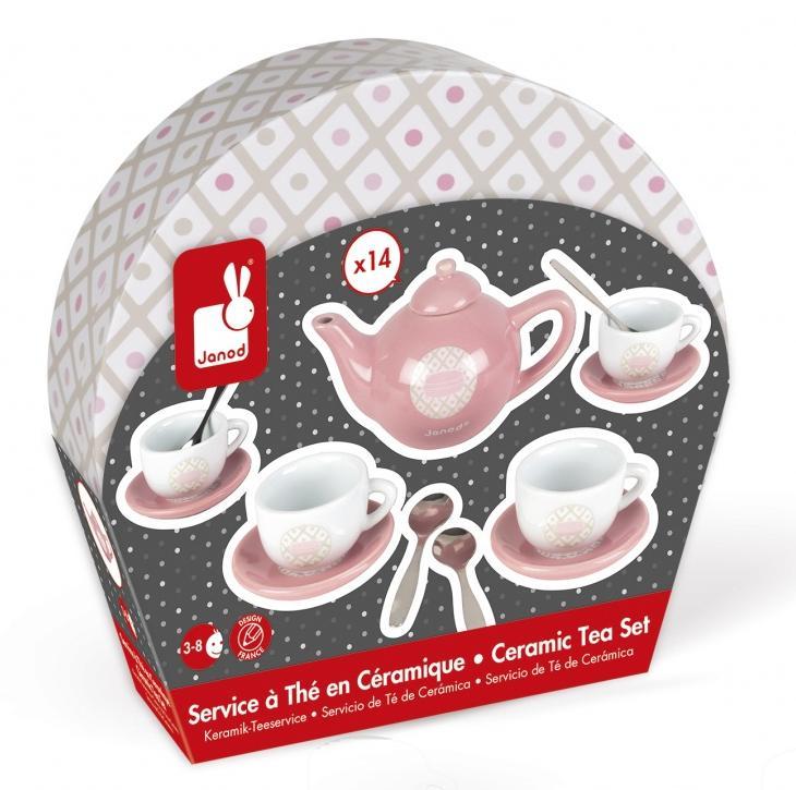 Аксессуары и мебель для кукол JANOD сервиз чайный loraine на подставке 13 предметов 43285