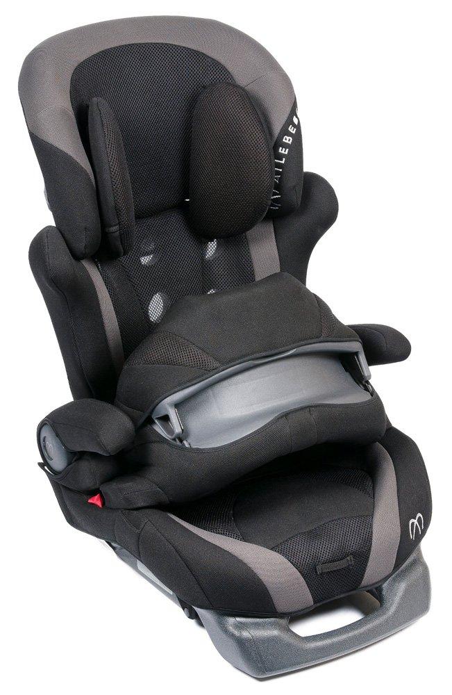 CARMATE автокресло SARATTO CRUISE 4S гр. 1/2/3 (9-36 кг) черно-серое