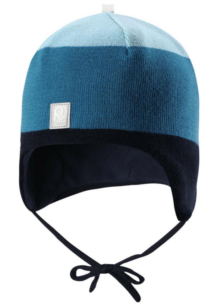Купить Шапки, варежки, перчатки, REIMA шапка шерстяная AUVA синяя р.46