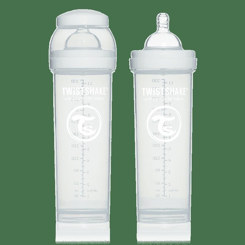 TWISTSHAKE бутылочка для кормления 330 мл с контейнером для сухой смеси и соской 4+ белая TWISTSHAKE бутылочка 330