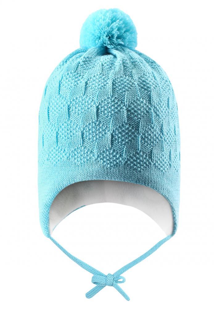 LASSIE шапка голубая р.XXS (42-44см)