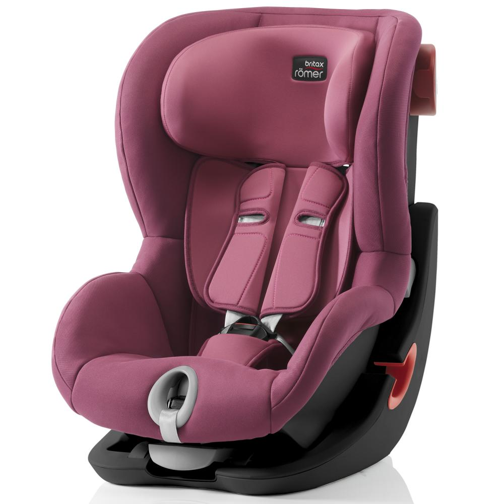 Britax Roemer автокресло KING II Black Series Wine Rose (группа 1, от 9 до 18 кг)