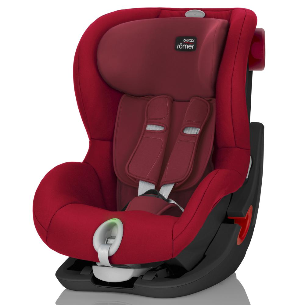 BRITAX ROEMER автокресло KING II LS Black Series Flame Red (группа 1, от 9 до 18 кг)
