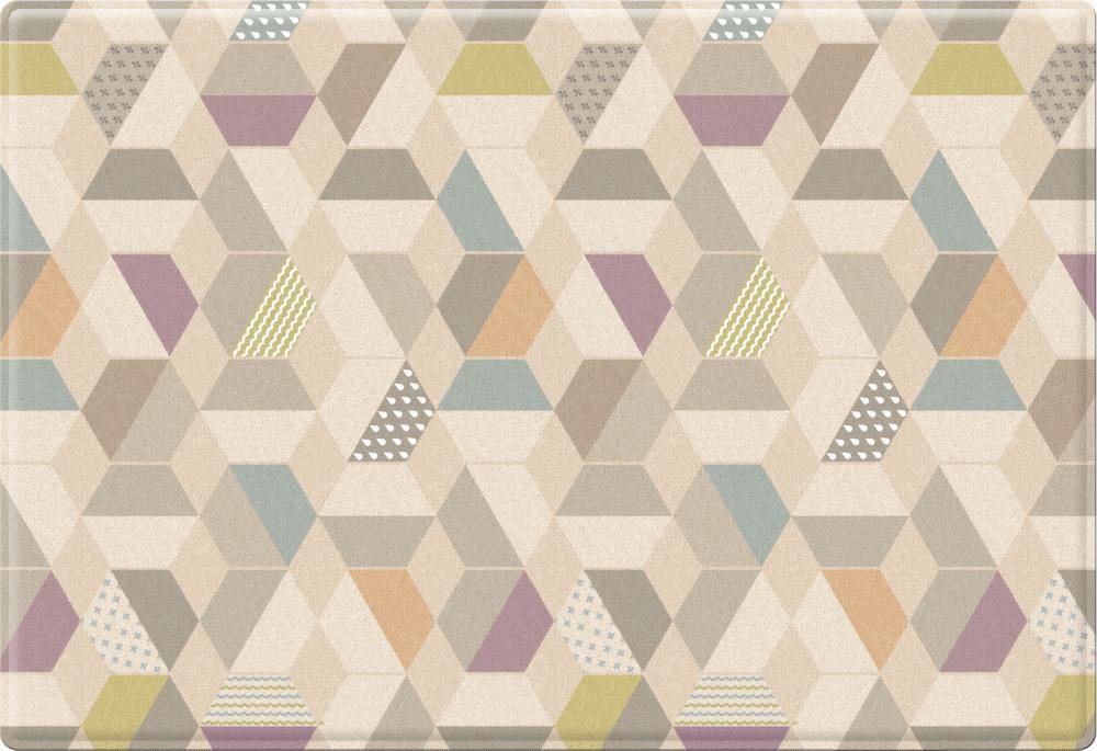 Parklon коврик двухсторонний 190x130x1,2 pure soft космос/зигзаги