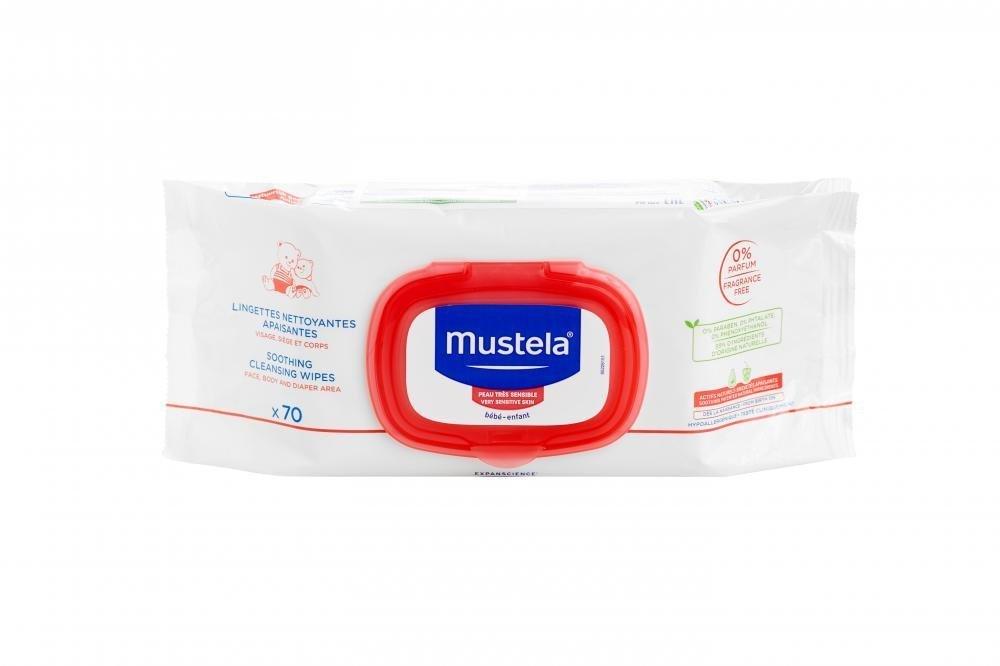 Купить Влажные салфетки, MUSTELA BEBE салфетки для мягкого очищения без запаха, 70 штук
