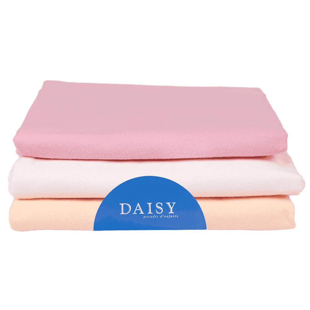 Купить Пеленки, пеленальные конверты, пледы, DAISY фланель, DAISY пеленка фланель 90*120 3 шт. розовая