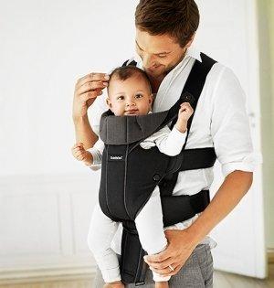 BABYBJORN рюкзак для переноски ребенка  Miracle черный/коричневый Organic от olant-shop.ru