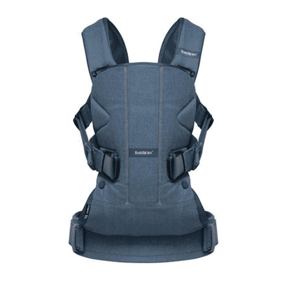 Купить Рюкзаки - КЕНГУРУ, BABYBJORN рюкзак для переноски ребенка ONE Soft Cotton Mix Деним пепельно-синий