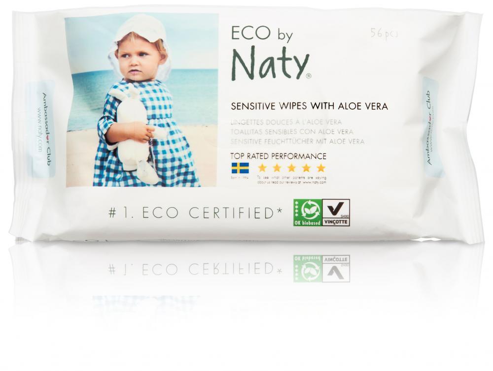 Купить Влажные салфетки, NATY влажные салфетки с алоэ 56 шт.