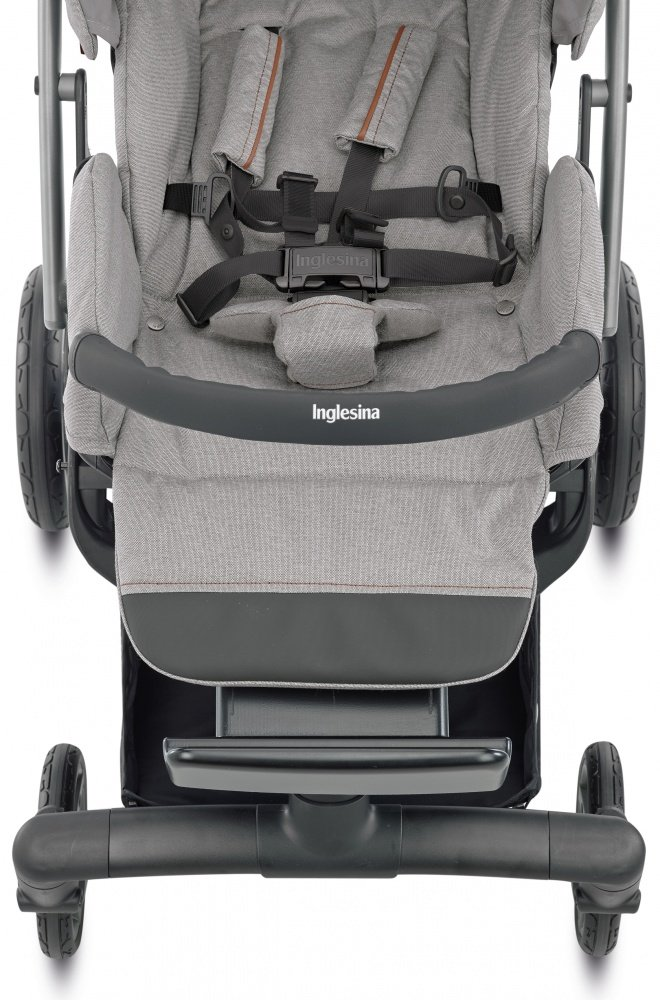 INGLESINA Коляска 3 в 1 Quad System на шасси Quad Titanium Black Coffee цвет OXFORD BLUE