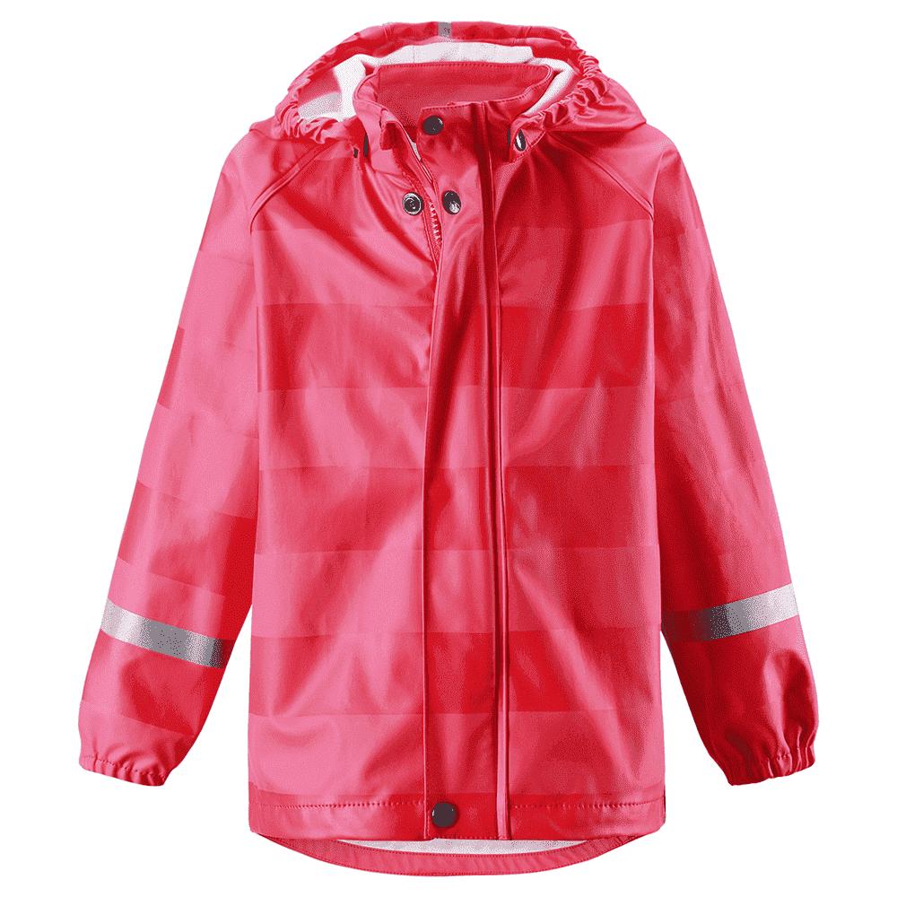 REIMA куртка для дождливой погоды Vesi красная в полоску р.86