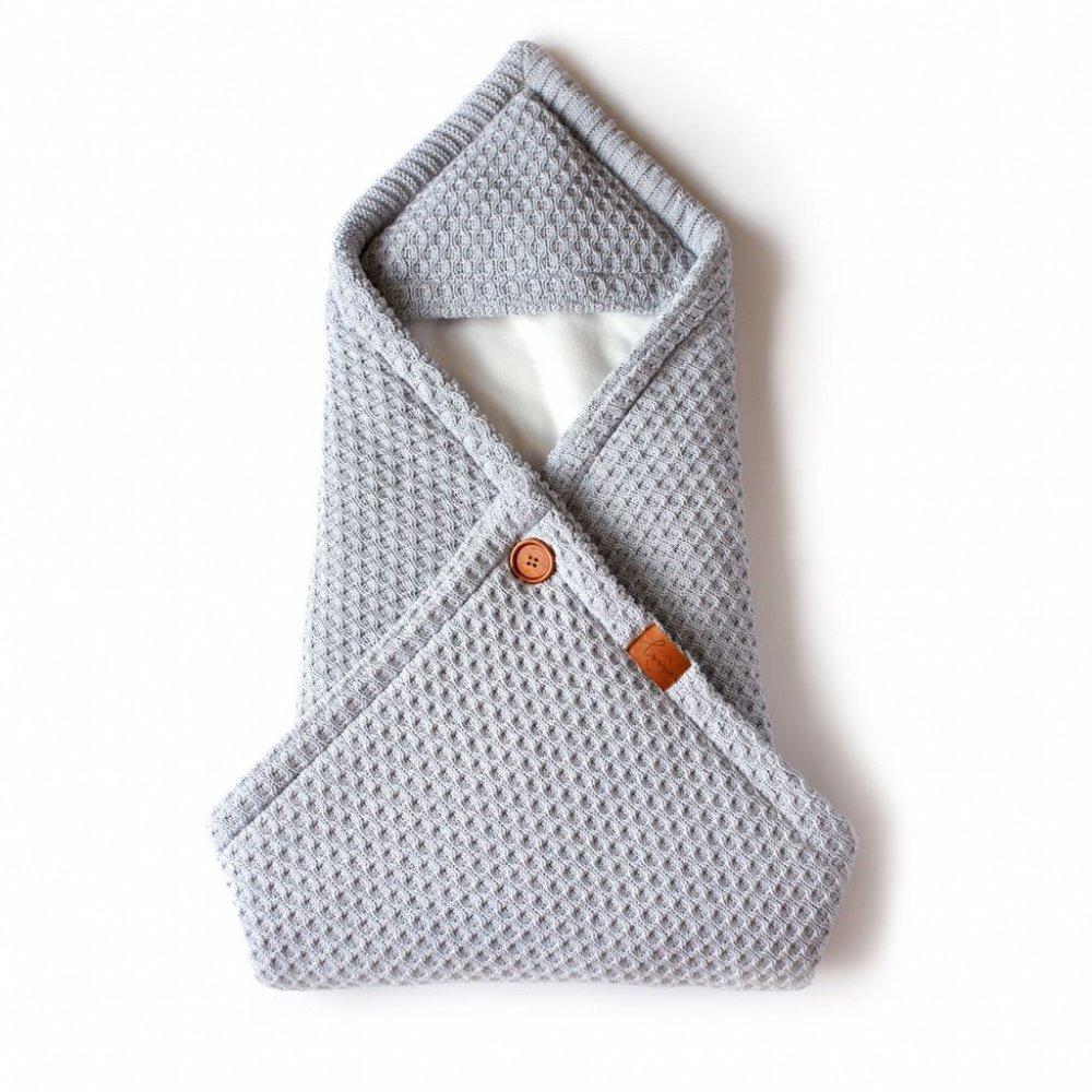 Loom вязаный конверт - плед  для новорожденного universal серебро (лето,85x85,100 грамм,от +5до+25)