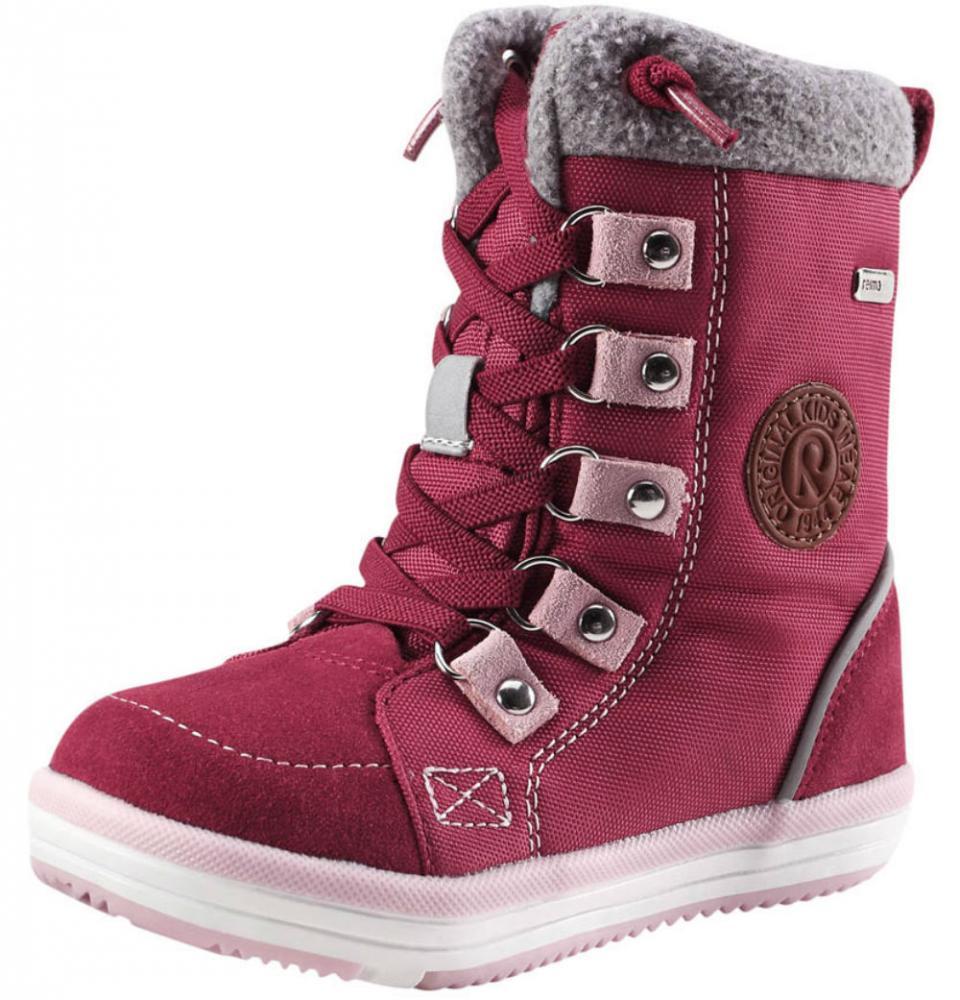 Обувь, носки, пинетки, REIMA ботинки зимние водонепроницаемые FREDDO розовые р.24  - купить со скидкой