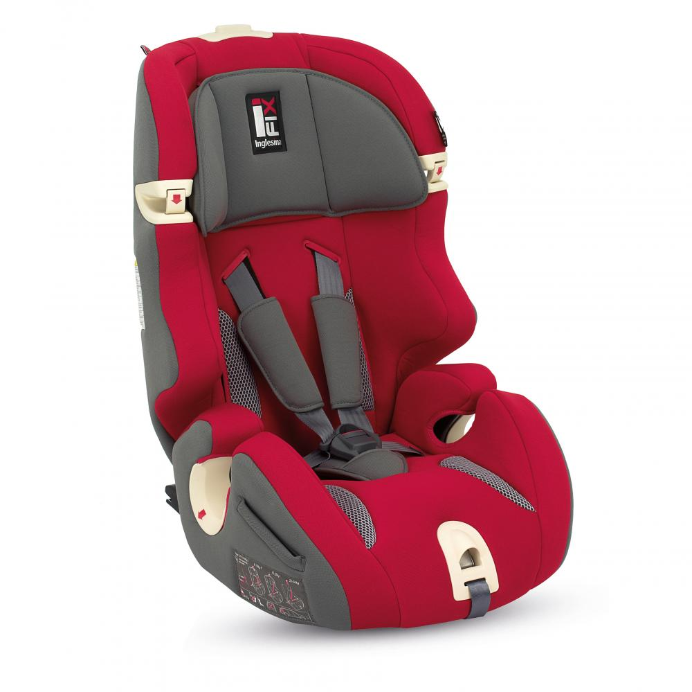 INGLESINA Автокресло Prime Miglia I-Fix цв. Red (гр.1/2/3)