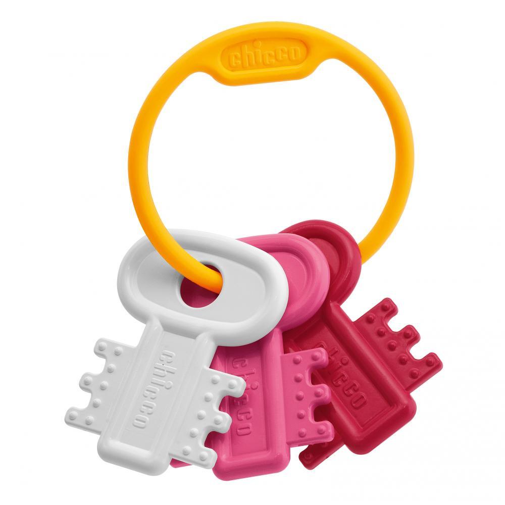 "CHICCO игрушка развивающая ""Ключи на кольце"" Pink"